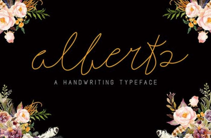 Alberts Signature Typeface