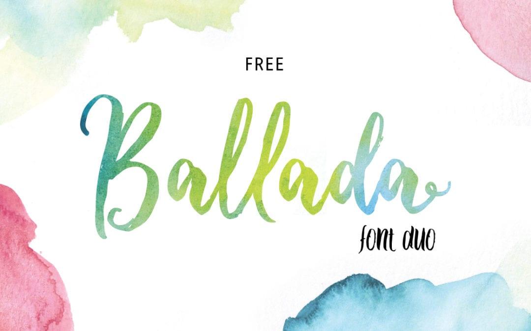 Ballada Hand Lettering Brush Font