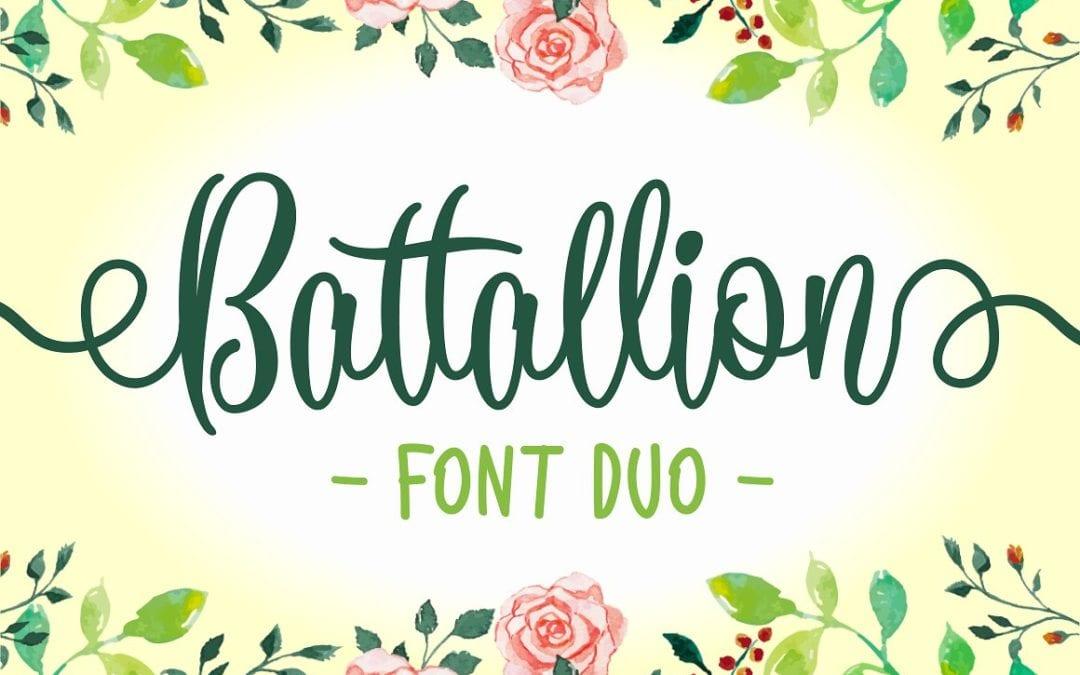 Battallion Calligraphy Script Fonts