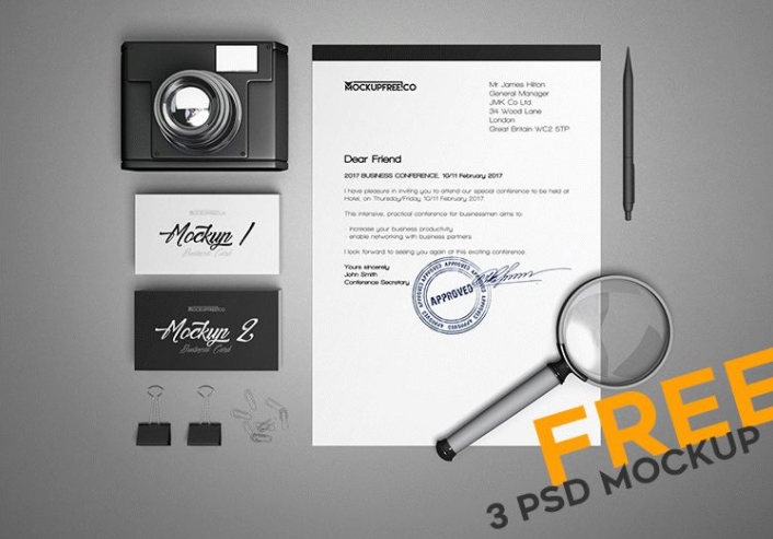 Business Stationery Mockup PSD Template