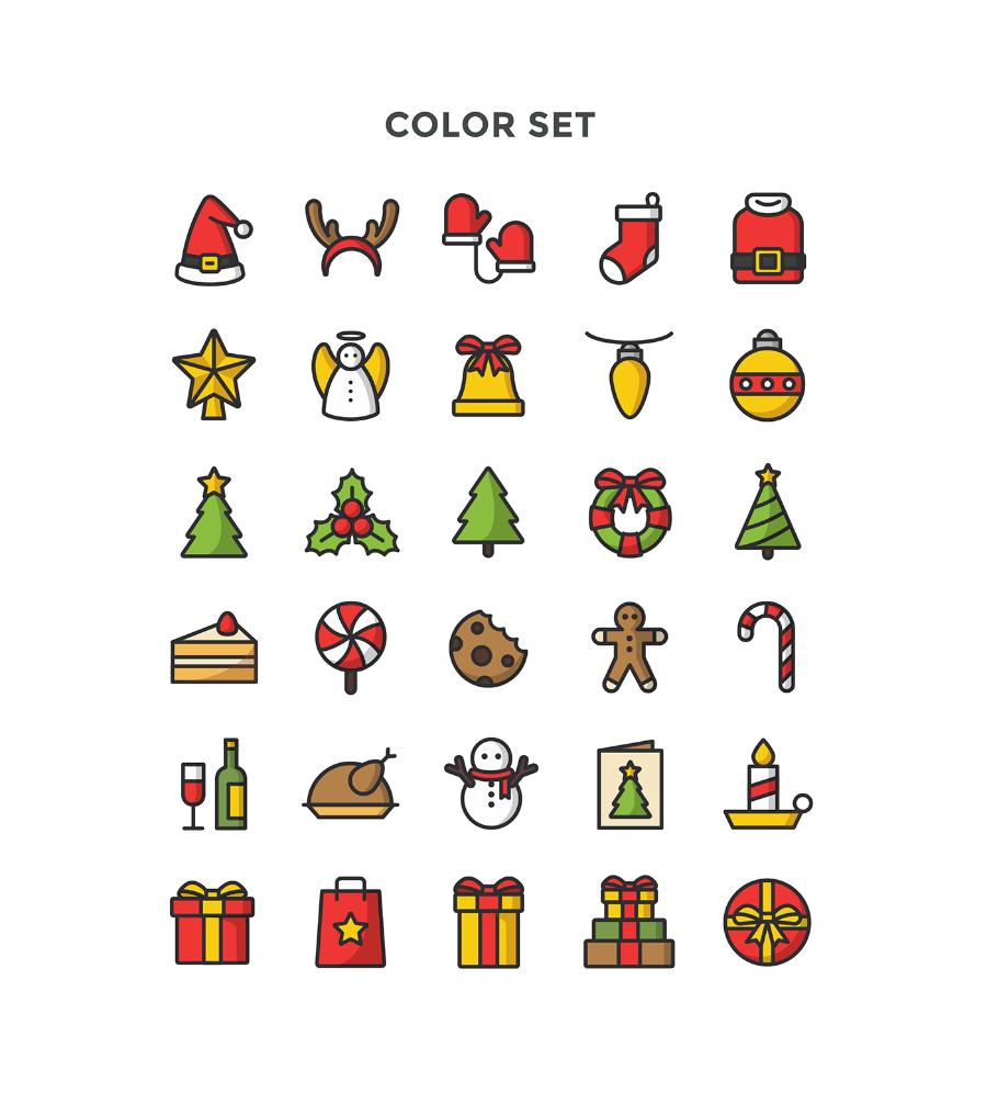 free christmas icons vector pack responsive joomla and