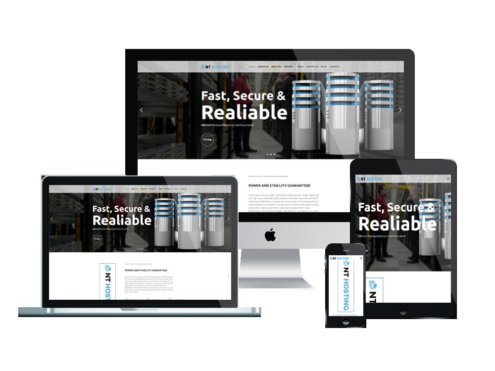 NT Hosting – Best Free WordPress Themes For Hosting Company