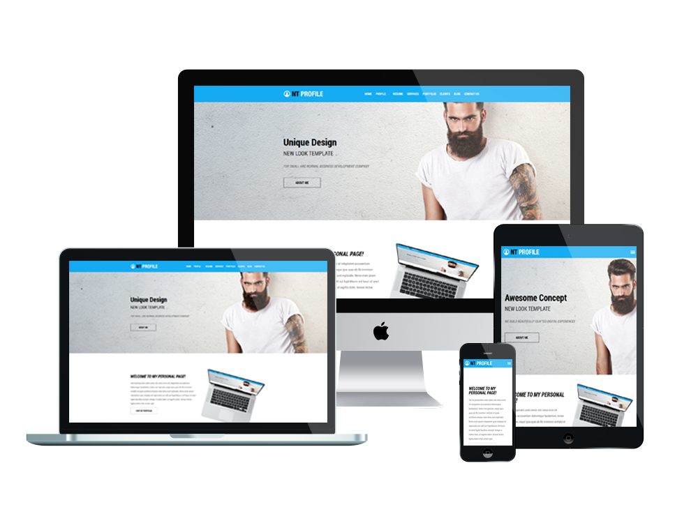 NT Profile best free personal WordPress themes