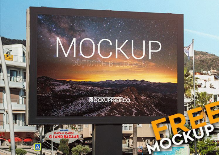 Outdoor Advertising Mockup PSD Template