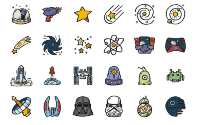 Pack Of Free Space Icons