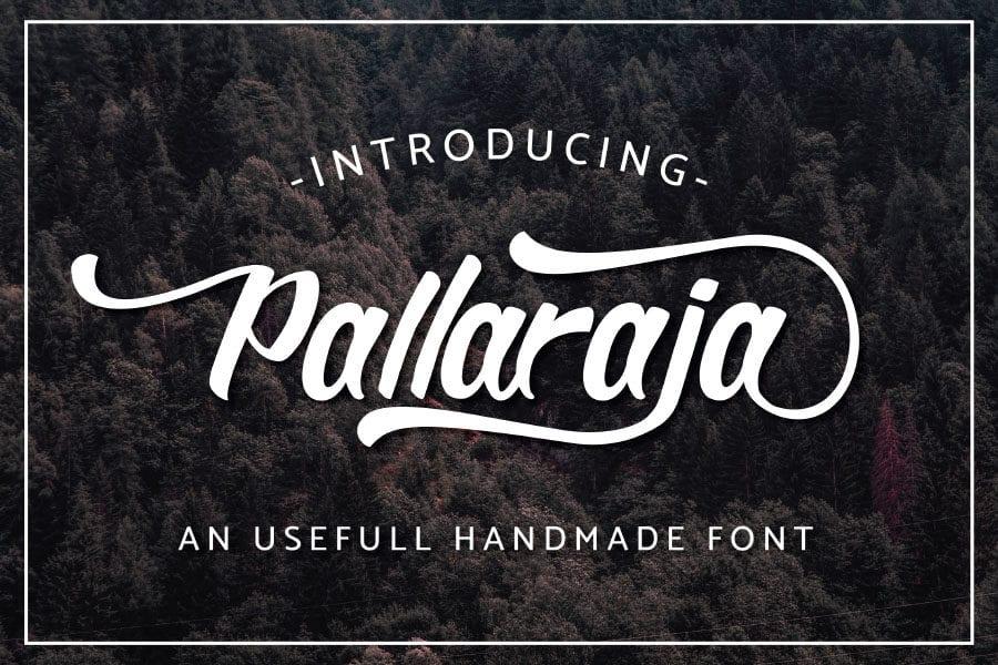 Pallaraja Modern Script Typeface