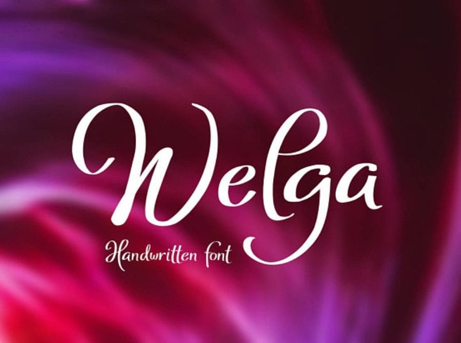 Welga Free Handwriting Fonts
