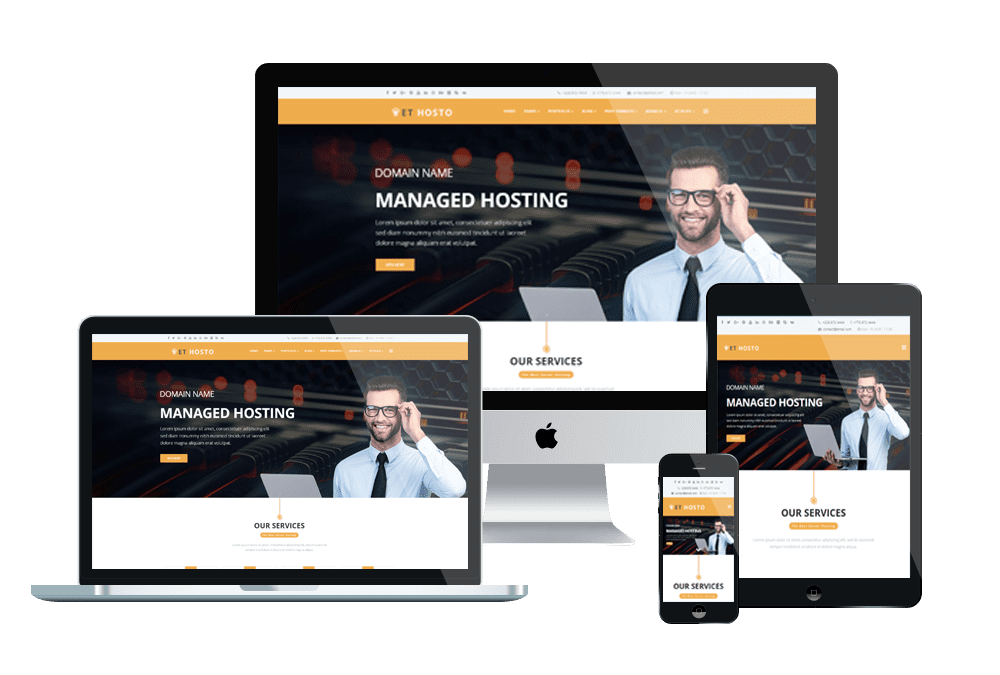 Top Best Free WordPress Themes For Hosting Company Websites
