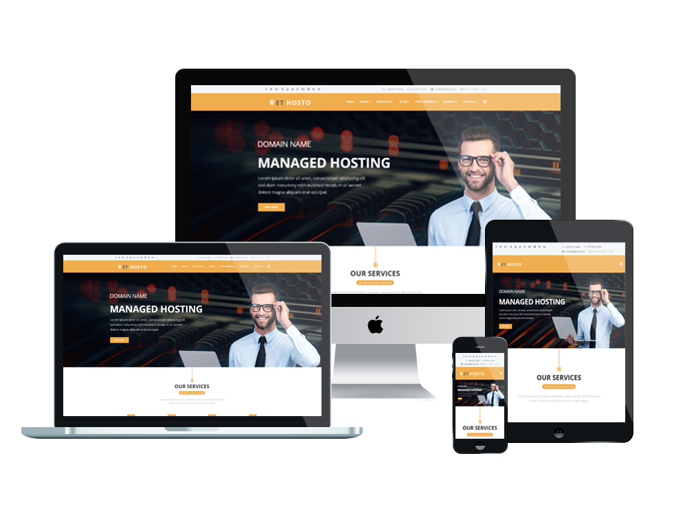 Best Free WordPress Themes For Hosting Company