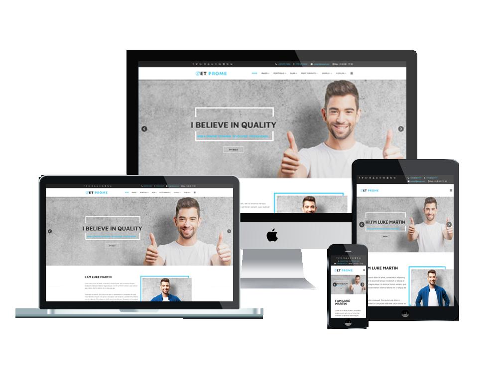 ET Prome – Free Responsive Personal WordPress Theme