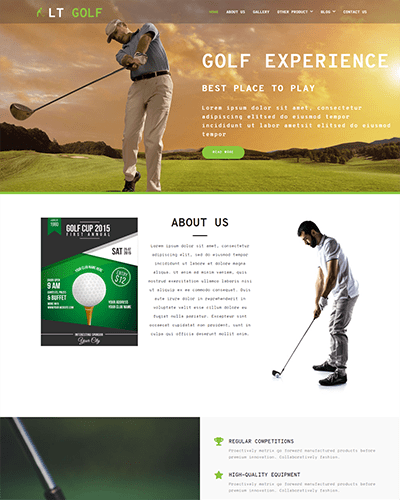 LT Golf Onepage – Free Single Page Responsive Golf Joomla Template