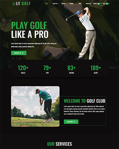 LT Golf – Free Responsive joomla templates sport