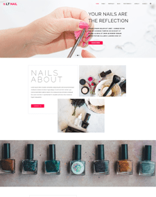 LT Nail – Free Responsive beauty salon wordpress theme