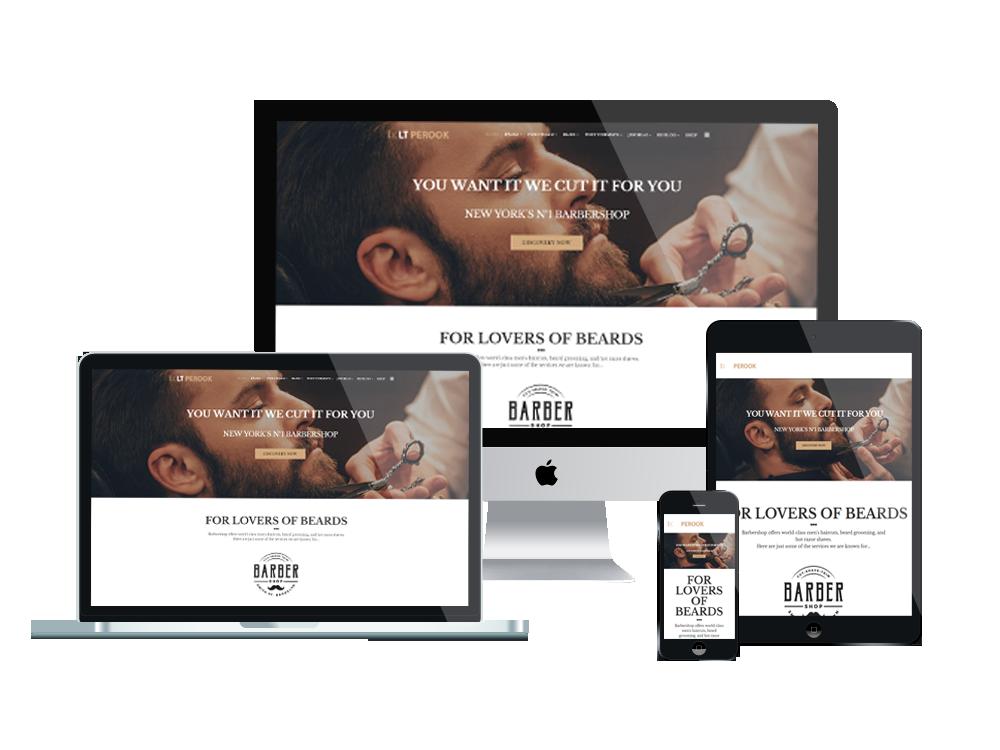 LT Perook – Free Joomla Barber Shop template