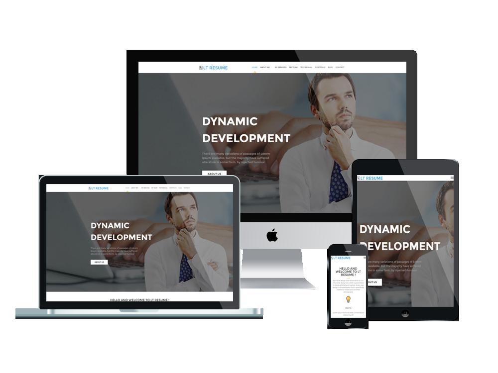 LT Resume – Free Responsive Personal CV / Resume WordPress theme