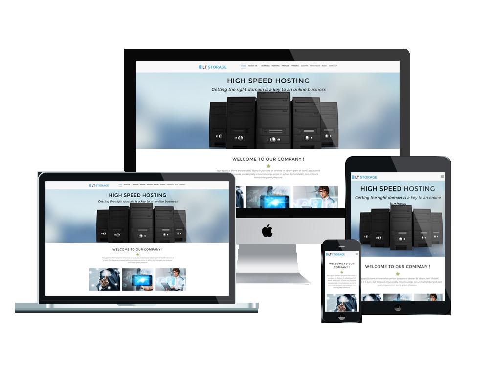 LT Storage – Free Responsive Server / Hosting WordPress theme