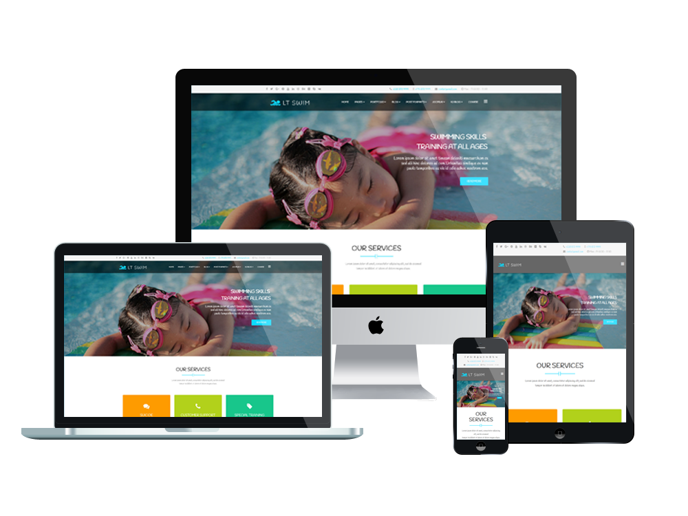 2. LT Swim – Swimming WordPress Theme
