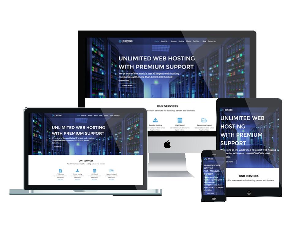 LT Hosting – Free Responsive Server / Hosting WordPress theme