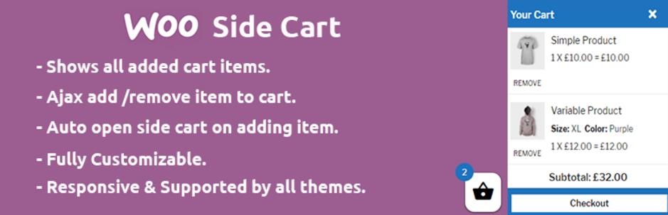 woocommerce side cart