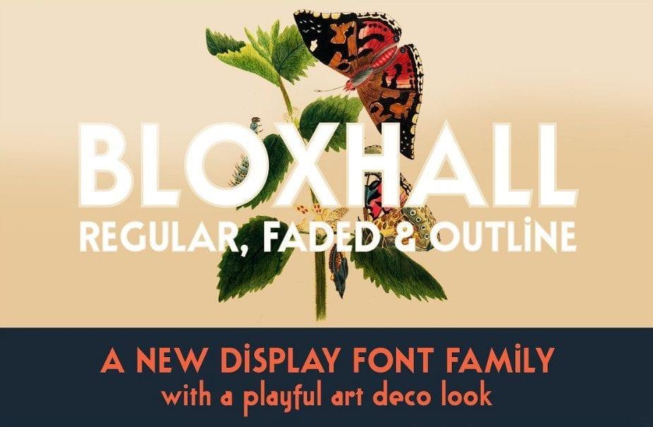 Bloxhall Modern Sans Serif Fonts