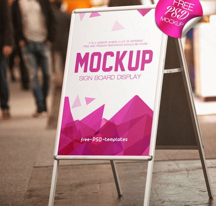 Free SignBoard MockUp PSD Template - Responsive Joomla and Wordpress ...