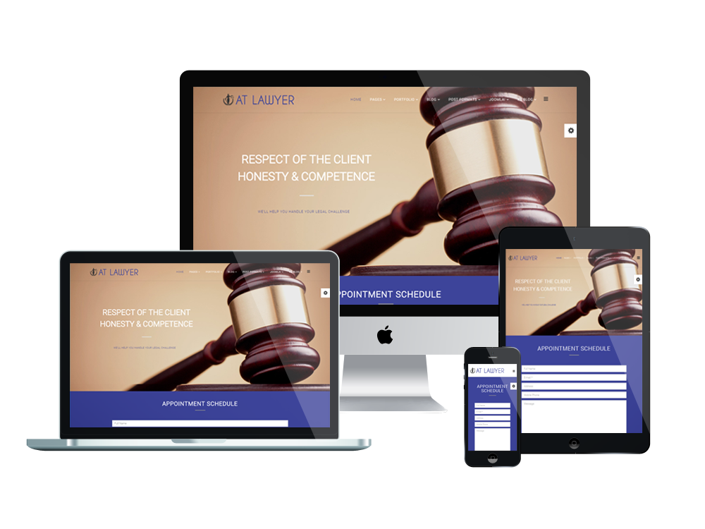 AT Lawyer – Free legal officer / Law Firm Joomla Template