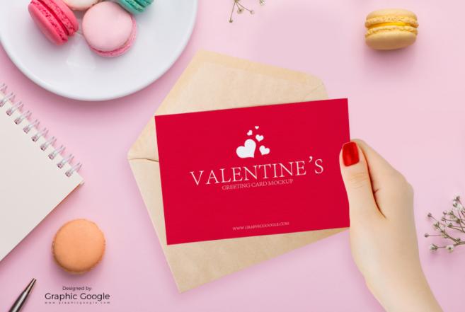 Valentine Greeting Cards Free MockUp