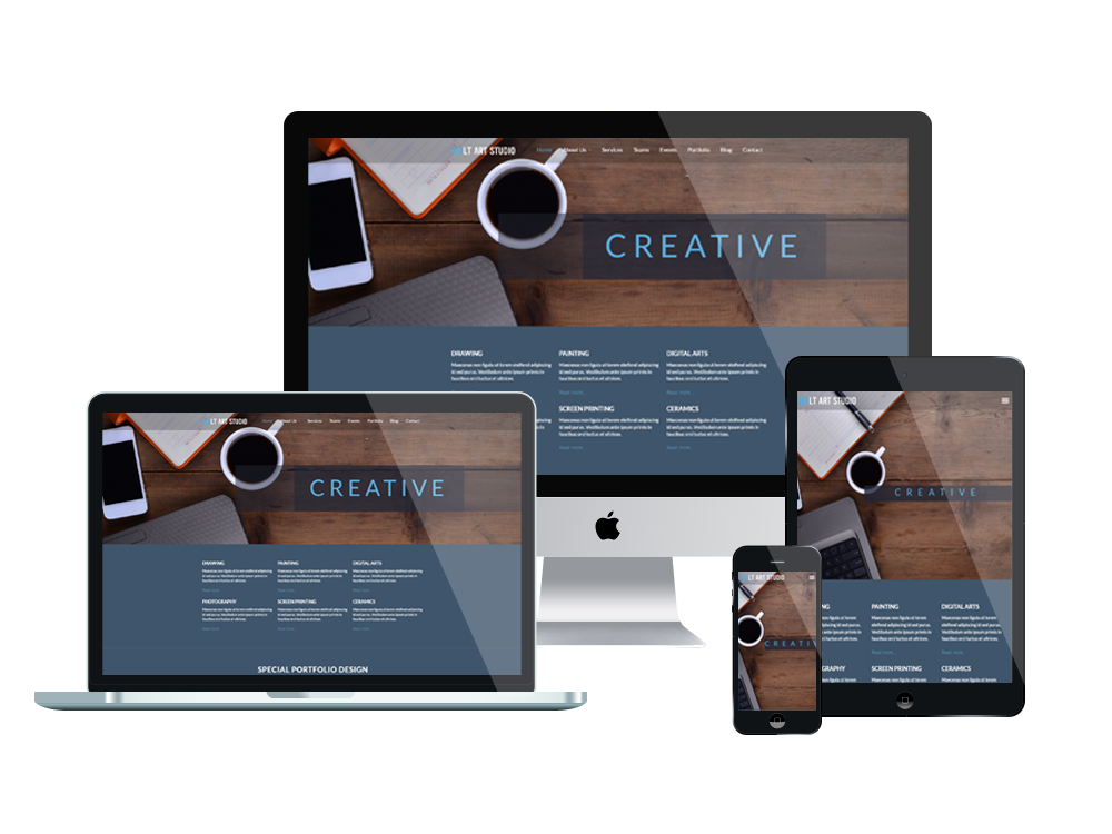 LT Art Studio – Free Responsive Creative Design / Art Studio WordPress theme