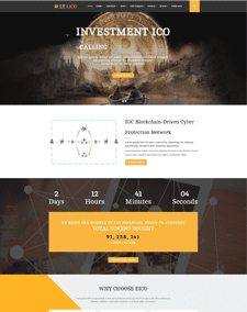 LT Lico Onepage – Free Single Page Responsive Cryptocurrency Website Template