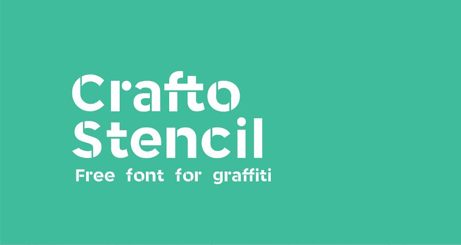 Crafto Stencil Free Modern Fonts
