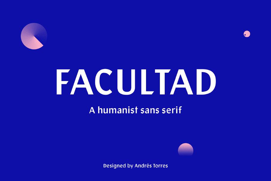 Facultad Sans Serif Typeface