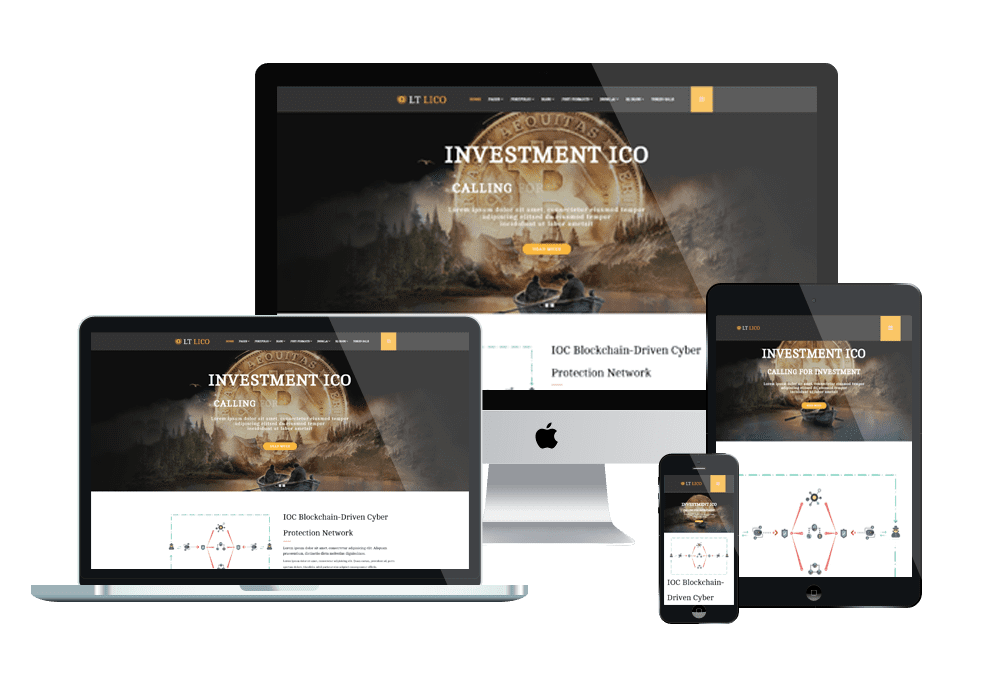 LT Lico - Premium Private Cryptocurrency Website Template