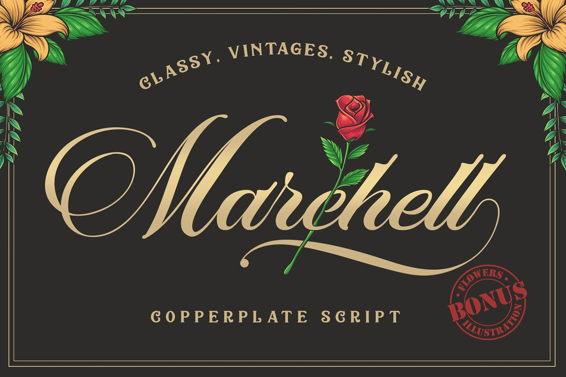 Marchell Copperplate Script Font