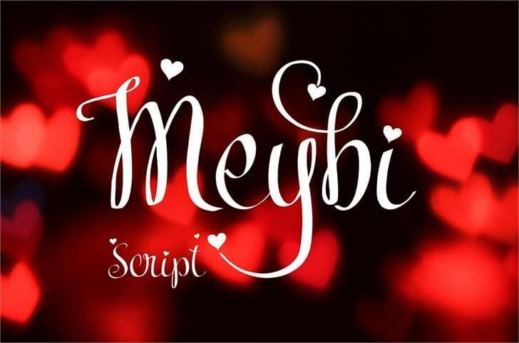 Meybi Beautiful Script Fonts