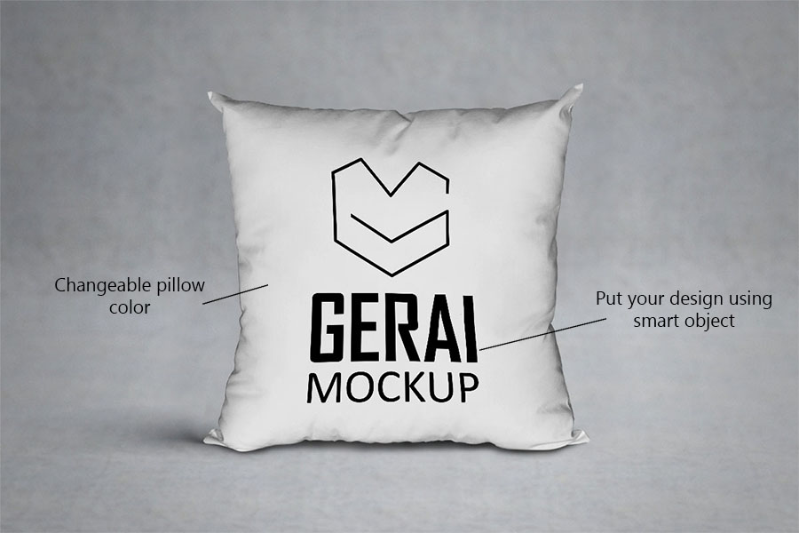 Pillow MockUp PSD Free Template