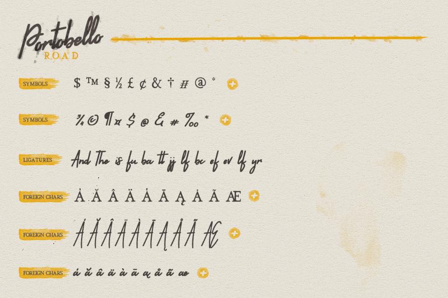 Portobello Handwritten Serif Font