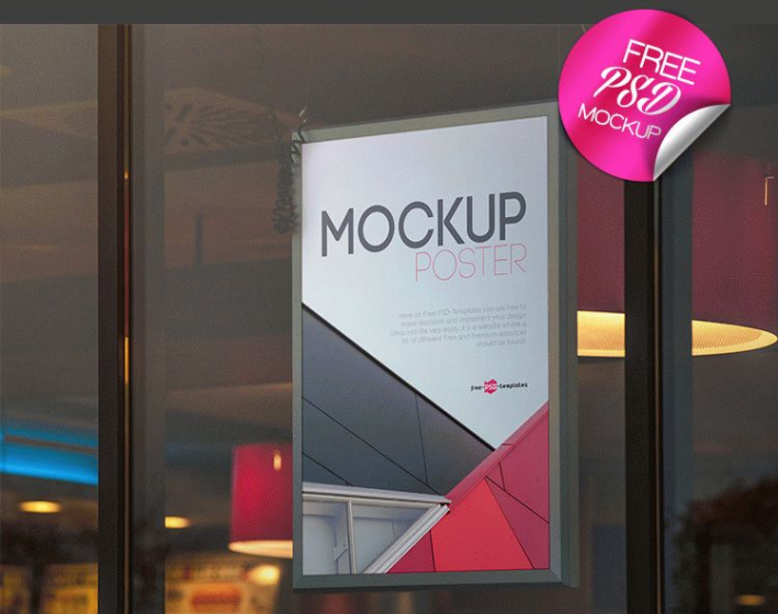 Poster Free PSD MockUp Template