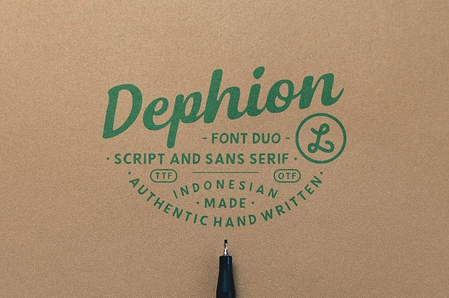 Dephion Handmade Typeface