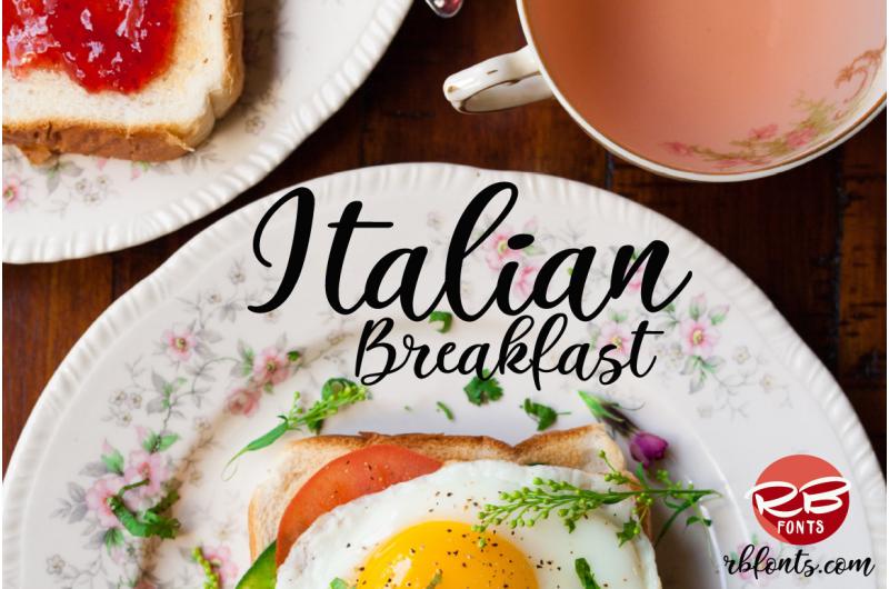 Italian Breakfast Modern Calligraphy Script Font