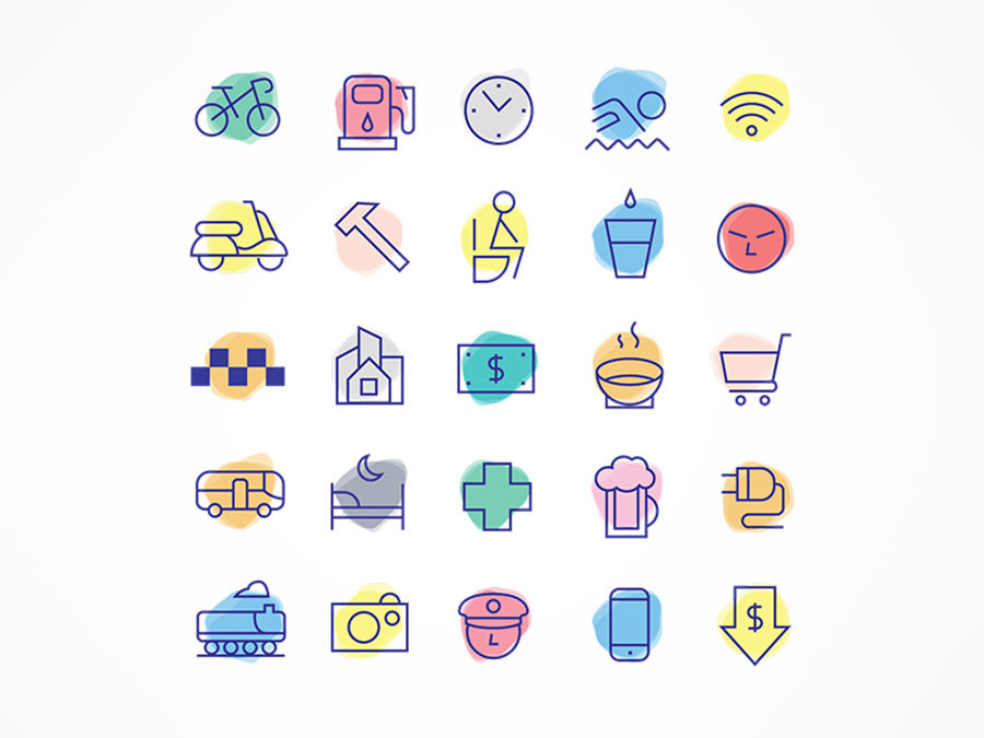 Pack Of Linear Free Travel Icons