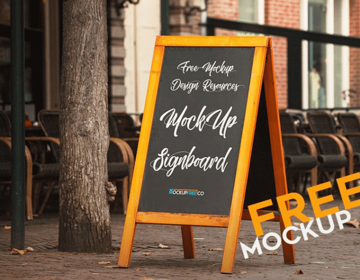 Signboard MockUp PSD Template