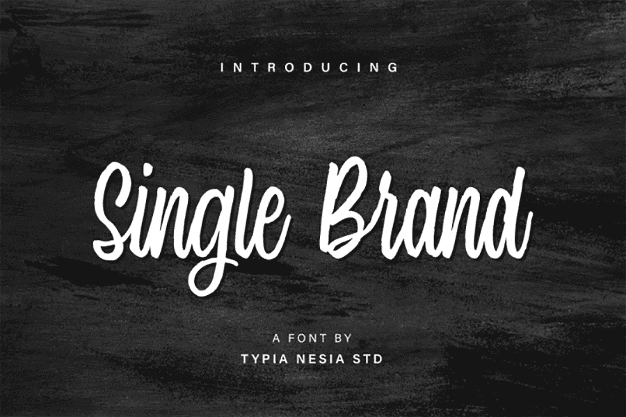 Single Brand Modern Calligraphy Typeface