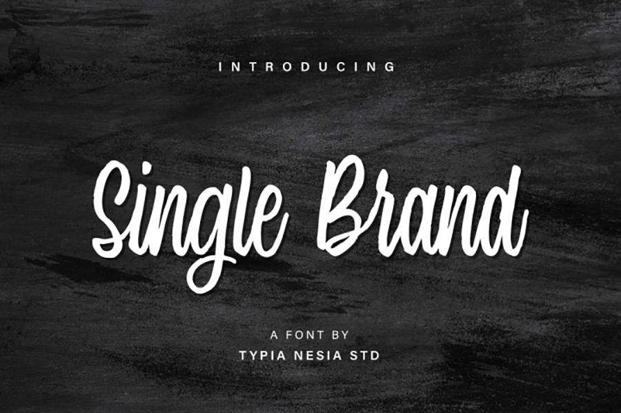 Single Brand Modern Calligraphy Typeface