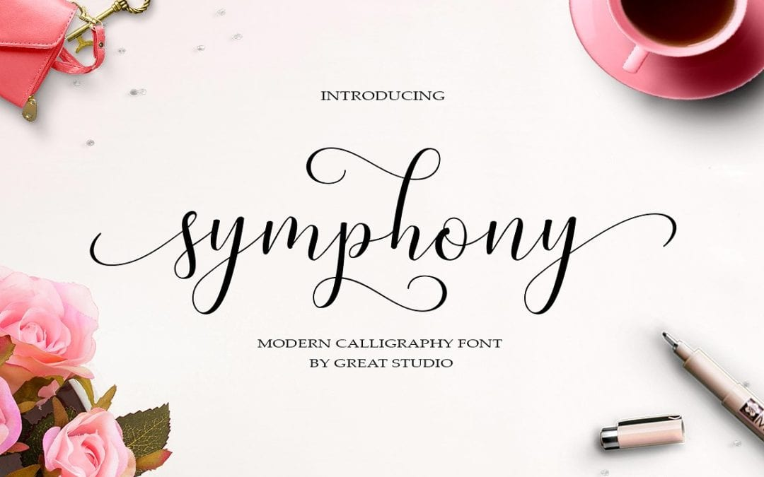 Symphony Modern Calligraphy Typeface