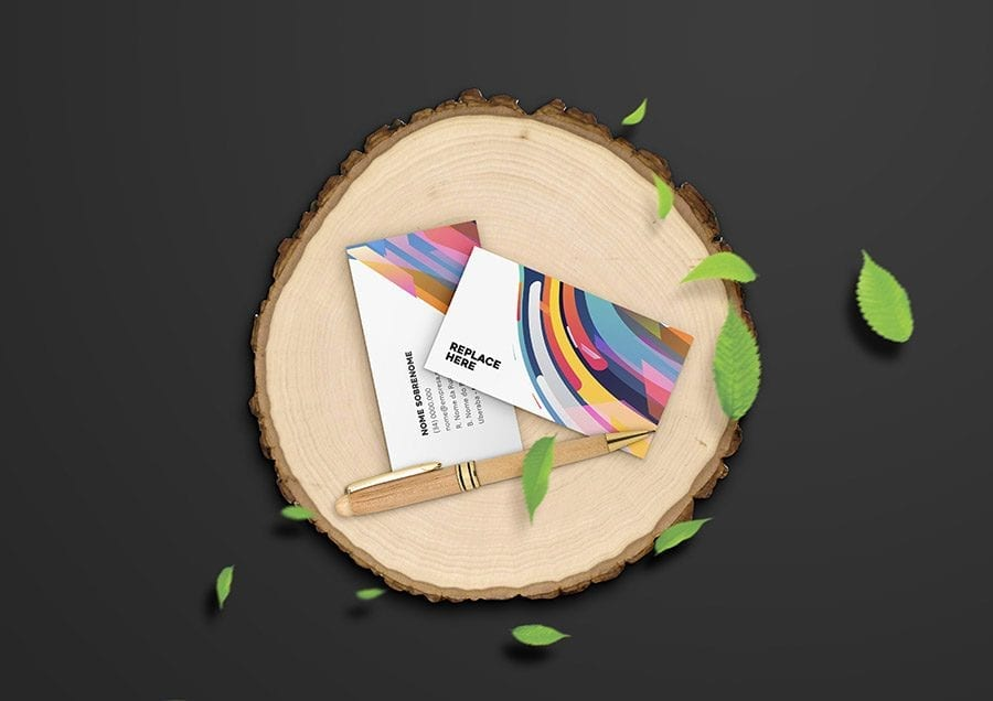 Wooden Stationery Free PSD Mockup