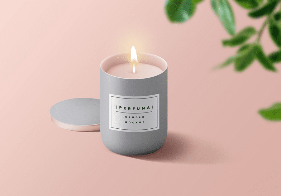 Free Candle PSD MockUp Template