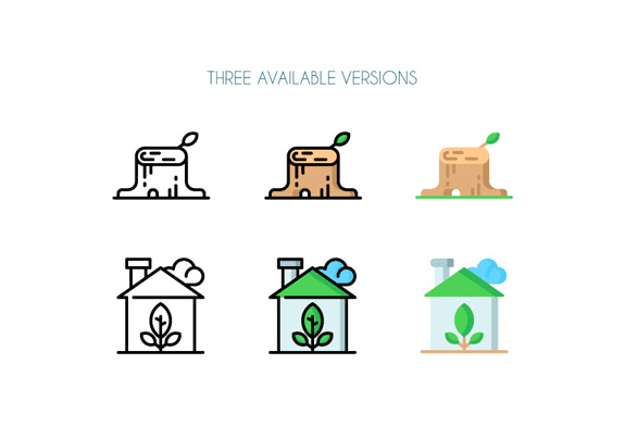 Set Of 50 Free Ecology Icons