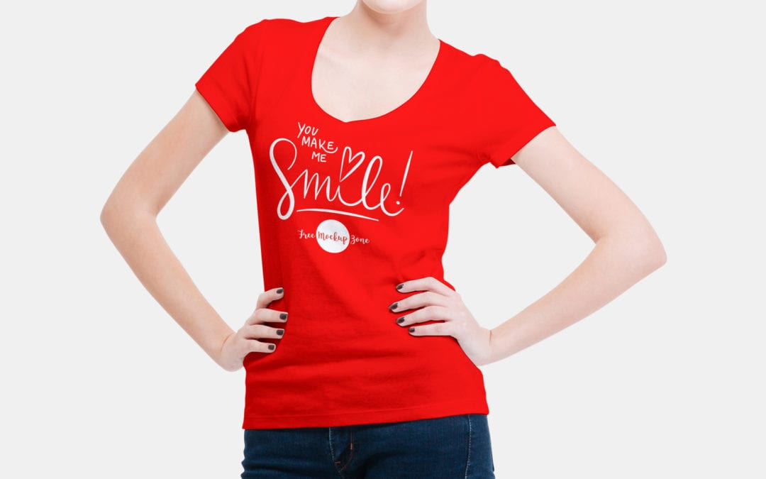 Woman T Shirt Mockup Psd Template Ltheme