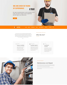 LT Electric Single Page – Free Responsive One page WordPress Electrical Theme
