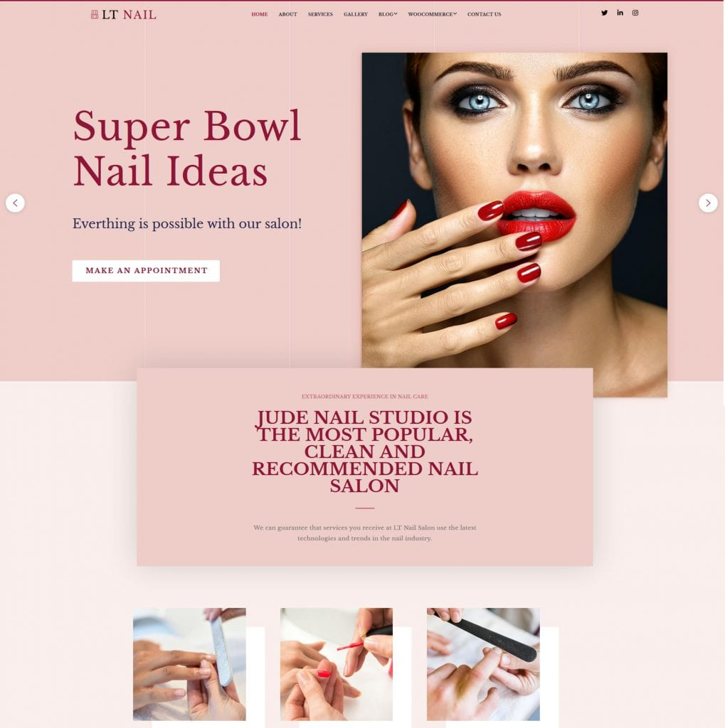 LT Nail WordPress theme